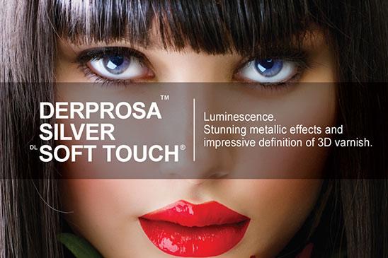 فیلم سلفون متالایز مخملی Derprosa Silver Soft Touch