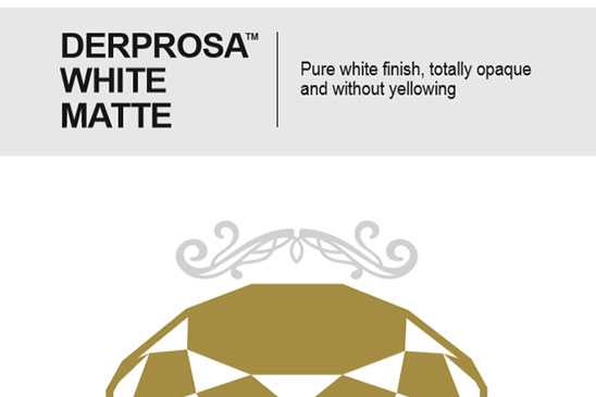 سلفون حرارتی مات سفید استخوانی درپروسا DERPROSA WHITE MATTE